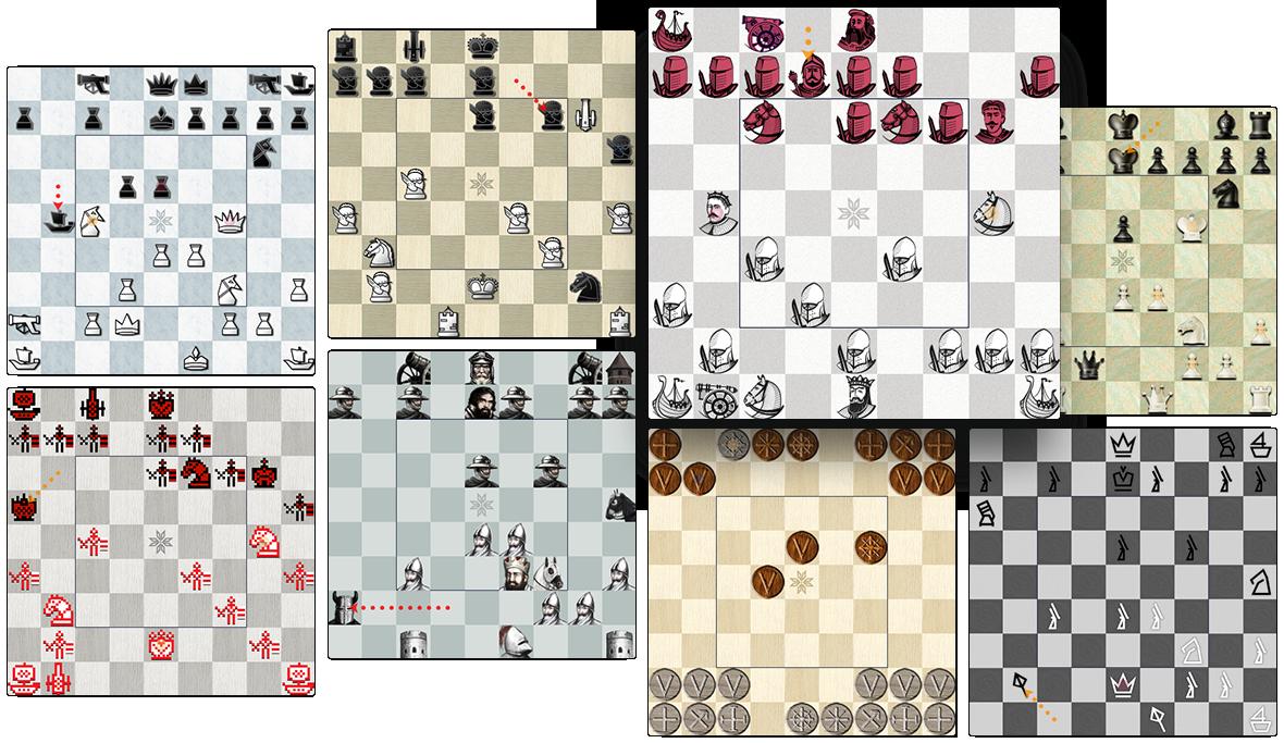 Варыянты дызайну дошак і фігур у версіі Беларускіх шахмат для Windows